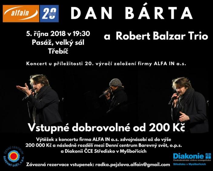 Koncert DANA BÁRTY & ROBERT BALZAR TRIA
