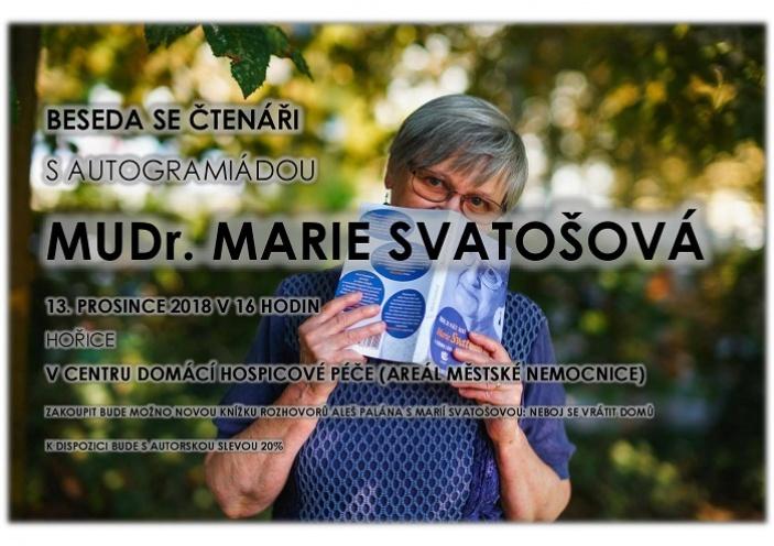 Beseda s Marií Svatošovou a autogramiáda