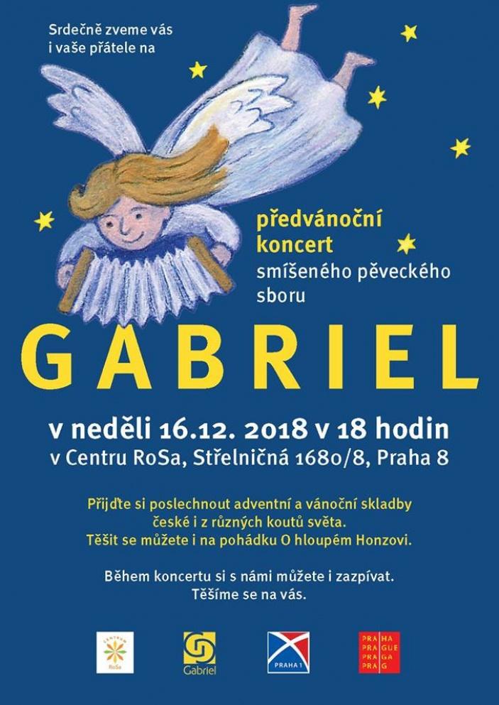 Předvánoční koncert pěveckého sboru Gabriel