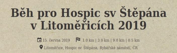 Běh pro Hospic sv. Štěpána