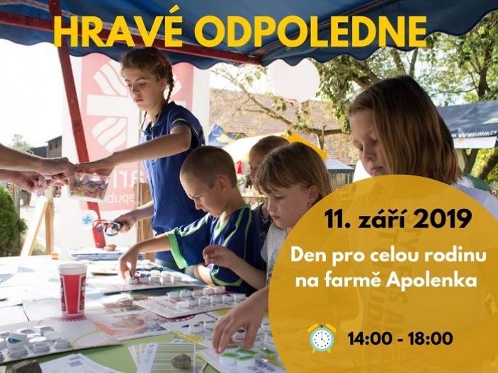 Hravé odpoledne na farmě Apolenka
