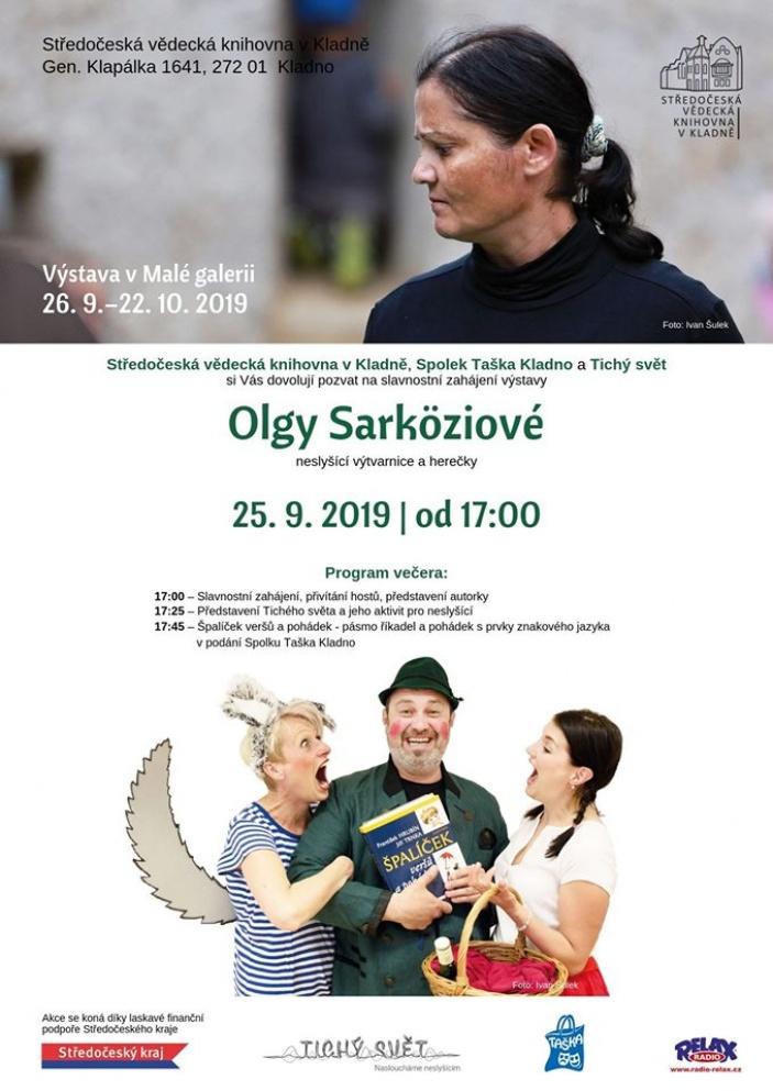Vernisáž výstavy Olgy Sarköziové a Divadlo Taška Kladno