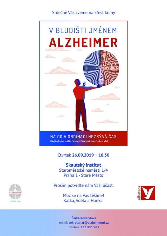 Křest knihy V bludišti jménem Alzheimer