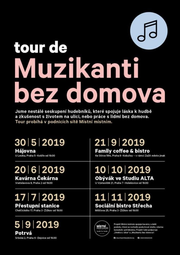 Tour de Muzikanti bez domova