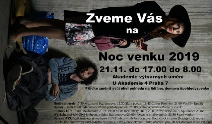 Noc Venku Praha 2019