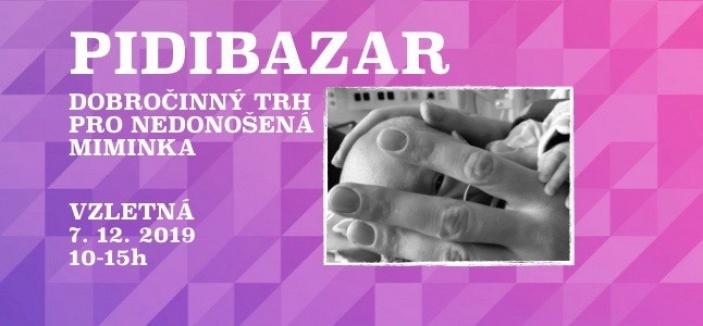 Pidibazar - dobročinný trh pro nedonošená miminka