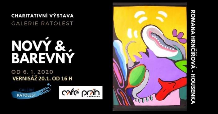 """Výstava """"Nový & barevný"""" v Café Práh"""