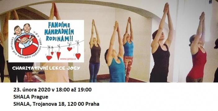 Charitativní lekce jógy v Shala Prague