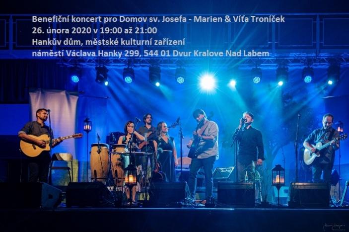 Benefiční koncert pro Domov sv. Josefa - Marien & Víťa Troníček
