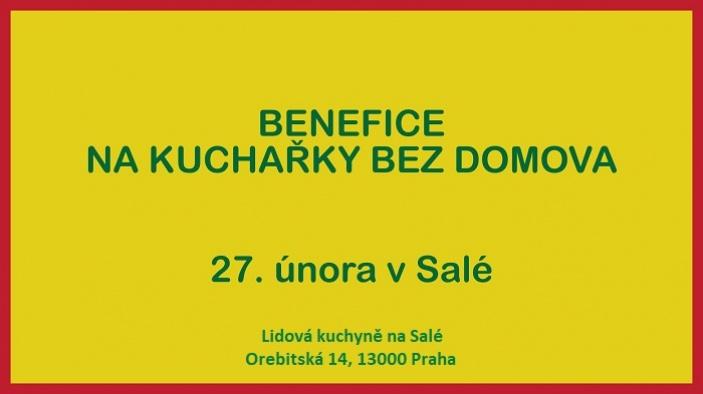 Benefiční koncert na Kuchařky bez domova