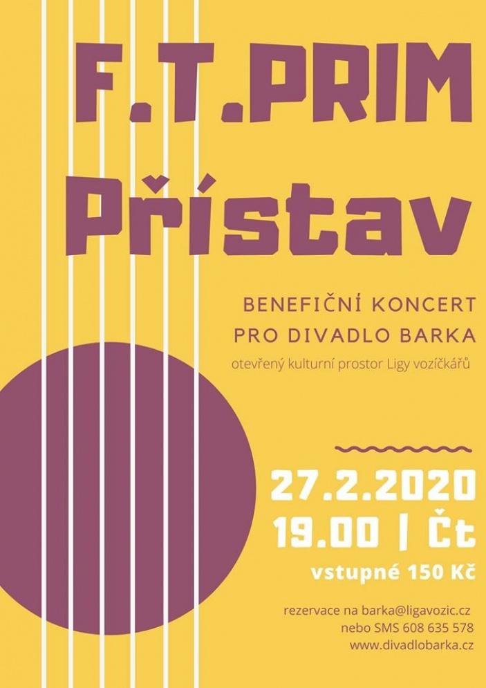 F.T.Prim a Přístav: benefiční koncert pro Ligu vozíčkářů
