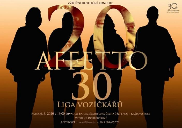 Affetto - výroční benefiční koncert pro Ligu vozíčkářů