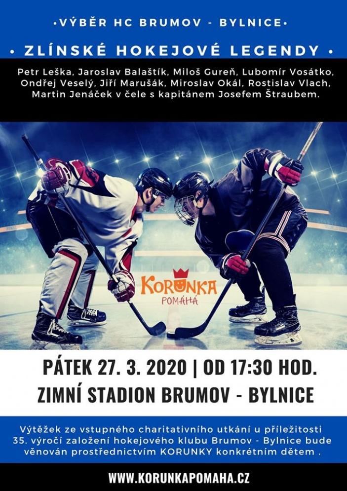 Zlínské hokejové legendy pro KORUNKU