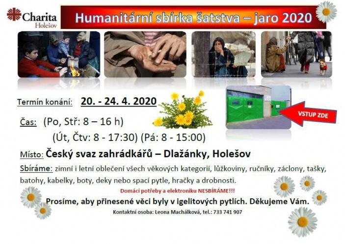 Humanitární sbírka šatstva 2020