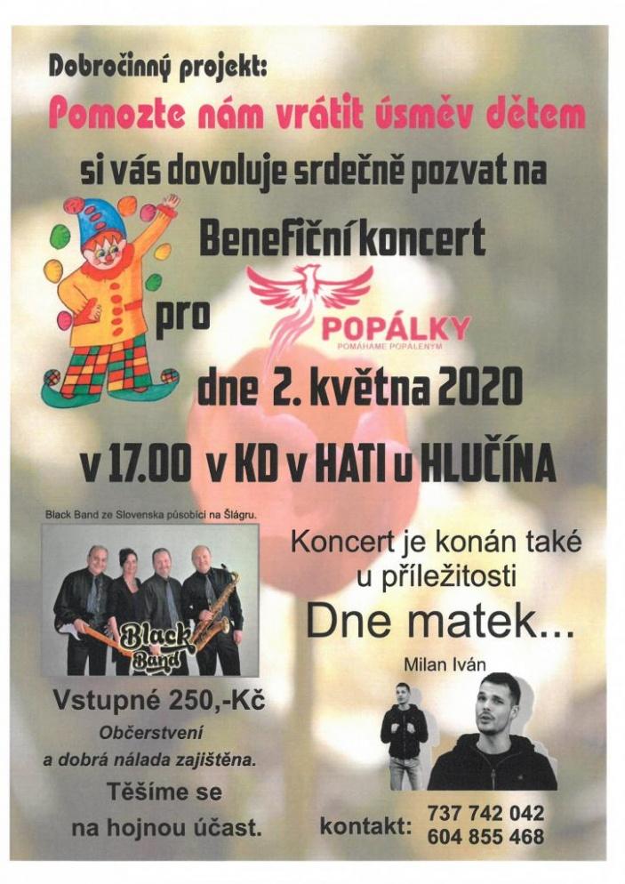 Benefiční koncert pro POPÁLKY