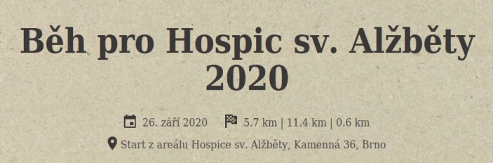 Běh pro Hospic sv. Alžběty 2020
