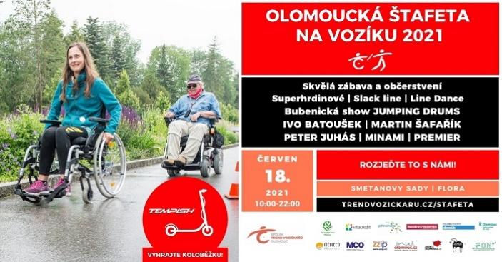 Olomoucká štafeta na vozíku 2021