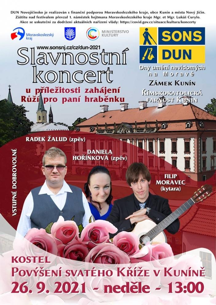 Slavnostní koncert Daniely Hořínkové a Radka Žaluda