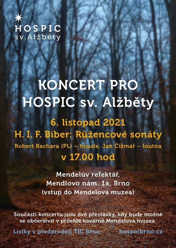 Koncert pro Hospic sv. Alžběty