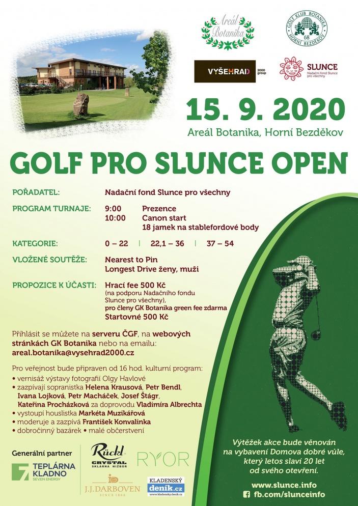 Charitativní golfový turnaj pro Slunce