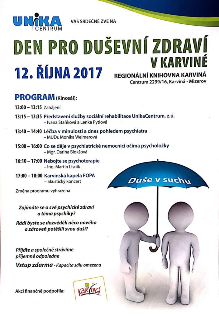 Den pro duševní zdraví v Karviné III.