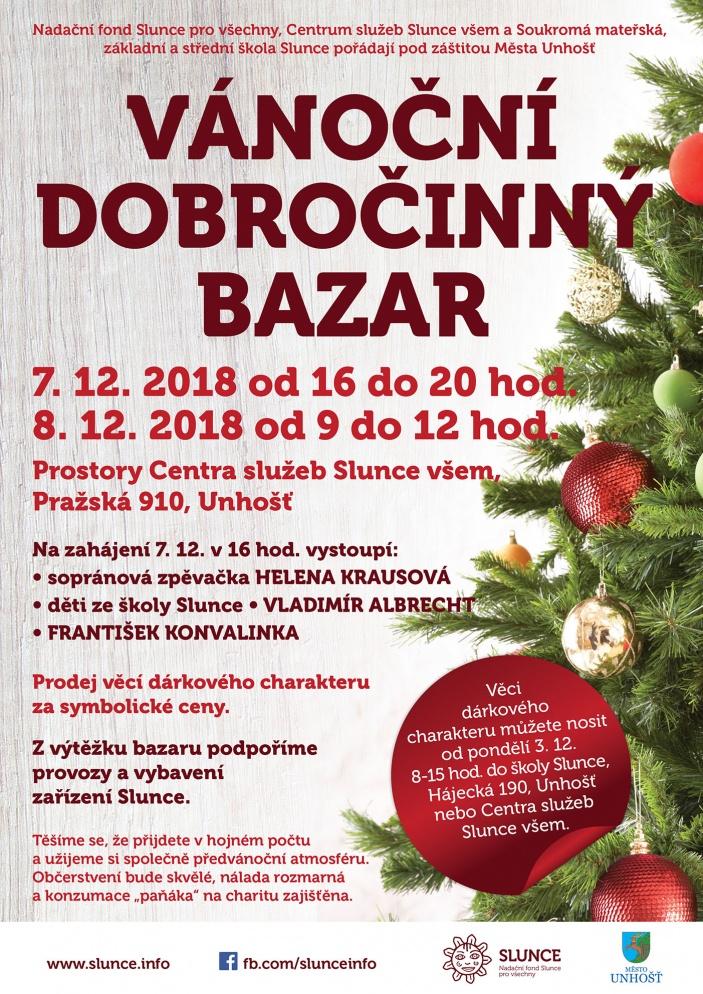 Vánoční dobročinný bazar pro Slunce