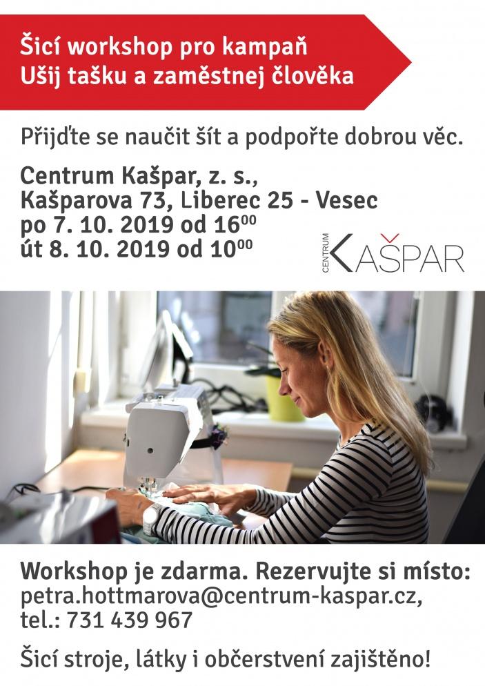 Šicí workshop pro kampaň Ušij tašku a zaměstnej člověka