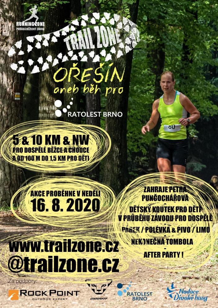 Trail zone Ořešín aneb běh pro Ratolest Brno