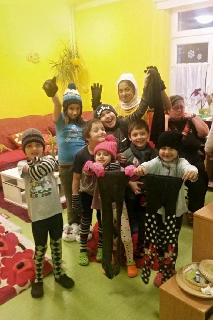 Předání dárků v dětském domově Střekov v Ústí nad Labem