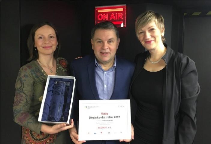 ACORUS zvítězil v soutěži Neziskovka roku 2017