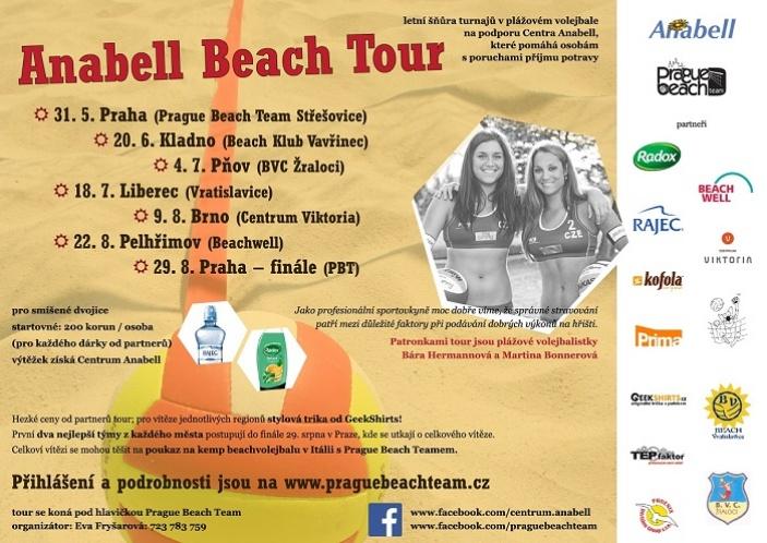 Anabell Beach Tour navštíví šest měst republiky,  patronkami jsou Hermannová s Bonnerovou