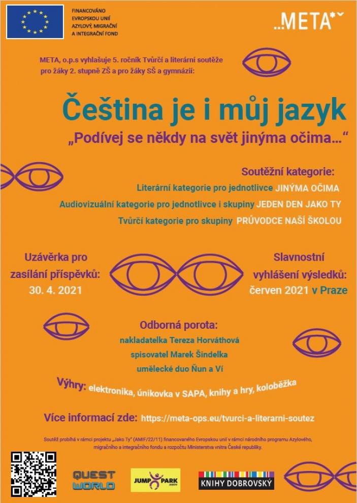 5. ročník Tvůrčí a literární soutěže Čeština je i můj jazyk