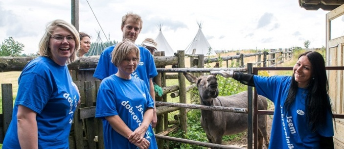 Dobrovolníci pomohli Nadačnímu fondu Klíček