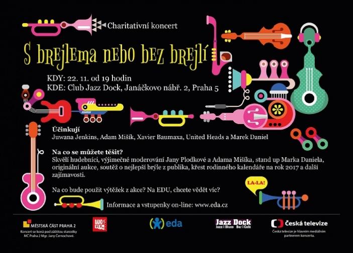 Charitativní koncert a křest rodinného kalendáře EDA s VIP osobnostmi