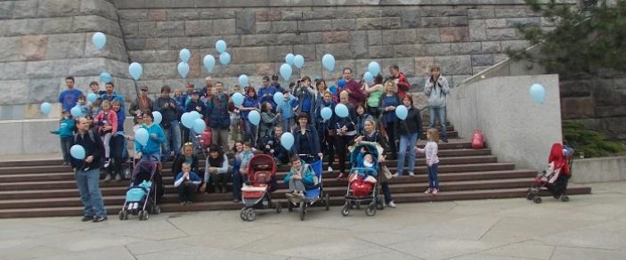 Pochod v modrém