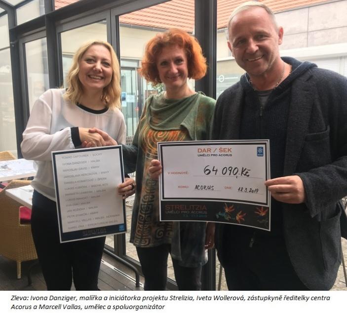 STRELITZIA  vynesla téměř 65 000 korun na pomoc ženám, které zažily domácí násilí