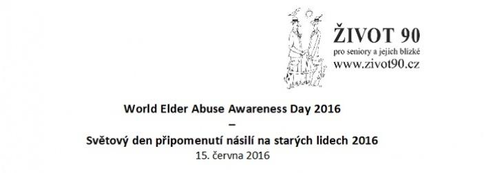 Světový den připomenutí násilí na starých lidech 2016