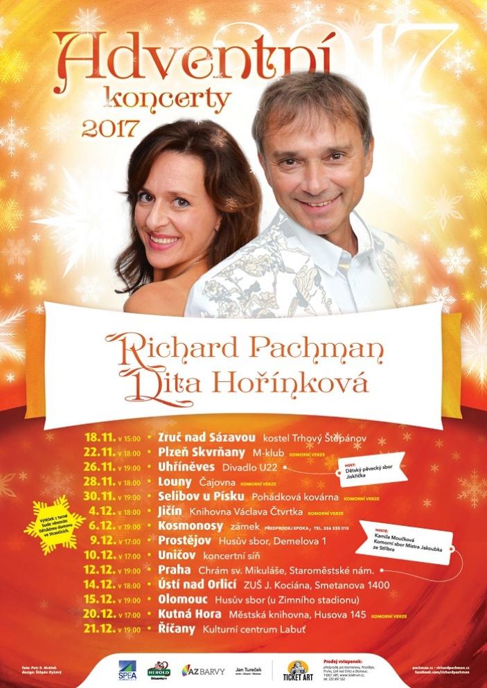 Richard Pachman má novou knihu a vyrazil na adventní koncerty
