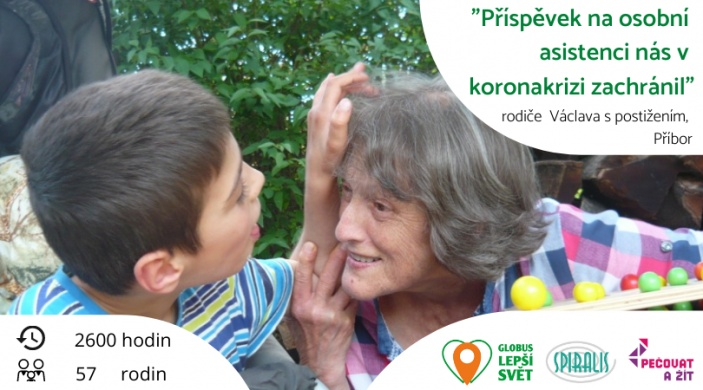 Včasná pomoc v koronakrizi pro rodiny dětí s postiženímod Spiralis a Globus Lepší svět