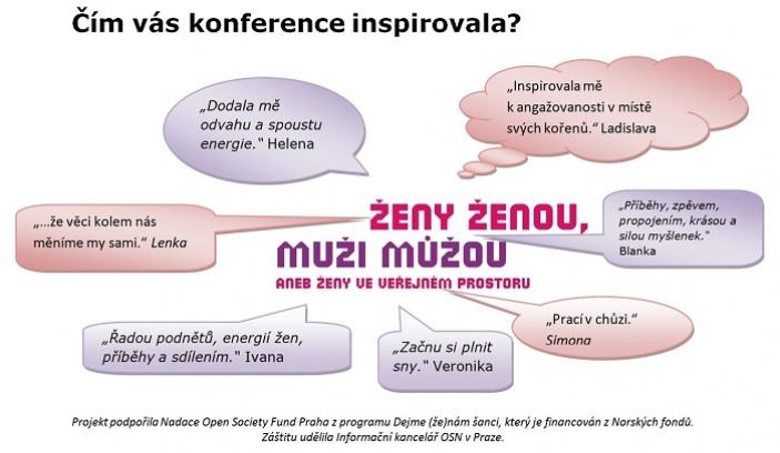 """Konference """"ŽENY ŽENOU, muži můžou aneb Ženy ve veřejném prostoru"""" bortí mýty o ženách"""