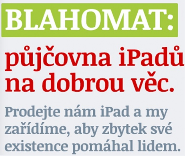 Blahomat: půjčovna iPadů na dobrou věc