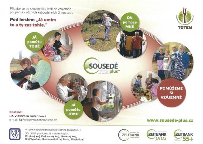 Sousedé Plus - dobrovolnický projekt, jehož cílem je podporovat vzájemnou výpomoc a sounáležitost.