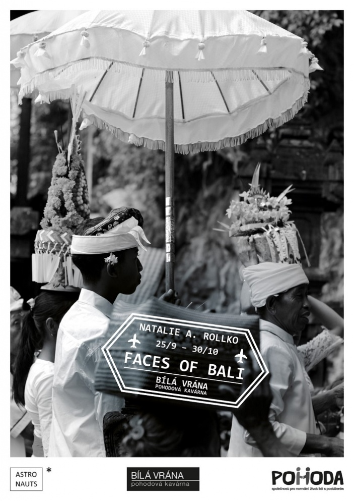 Faces of Bali v kavárně Bílá vrána na podporu lidí s mentálním postižením